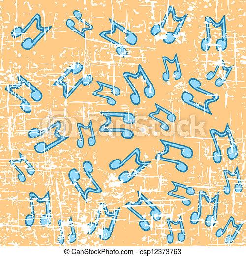astratto, note musica, fondo - csp12373763