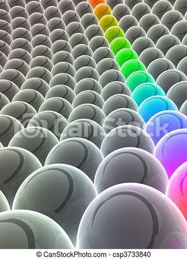 astratto, palle - csp3733840