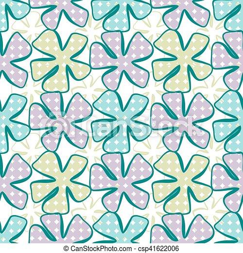 astratto, seamless, fiore, fondo., pattern. - csp41622006