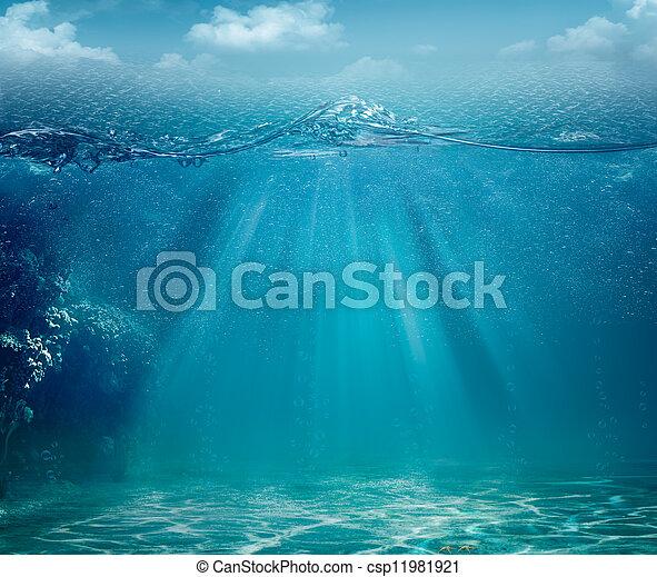 astratto, sfondi, oceano, disegno, mare, tuo - csp11981921