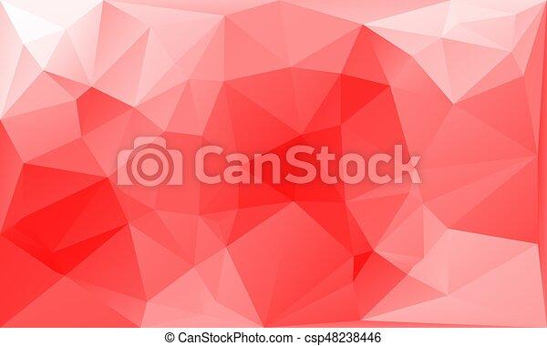 Astratto Sfondo Rosso Bianco Triangoli Astratto