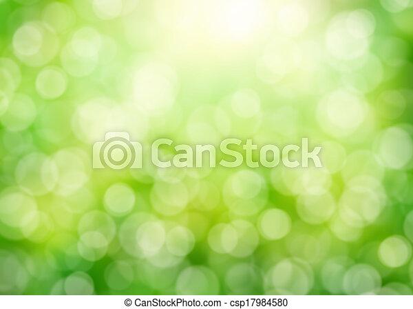 Soleggiato Astratto Sfondo Verde Natura