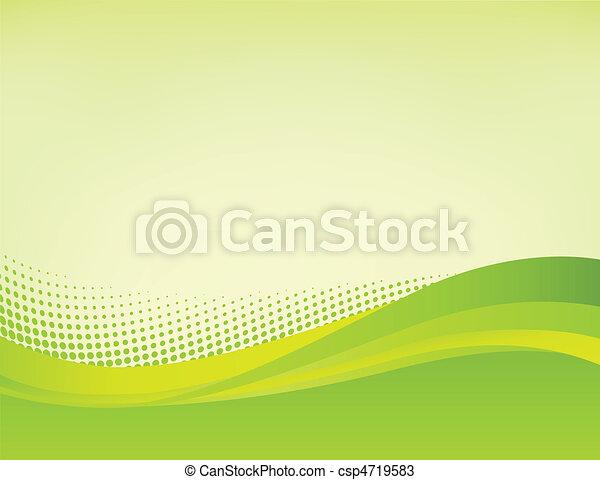 astratto, sfondo verde - csp4719583