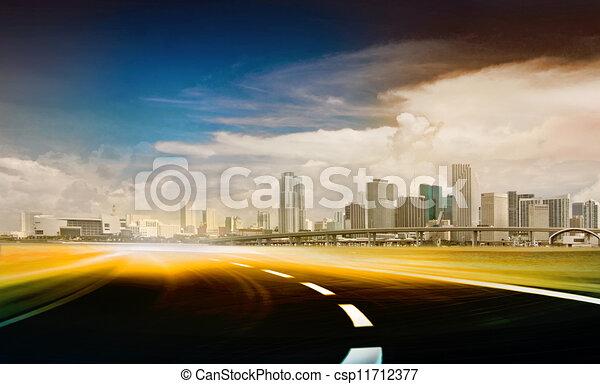 astratto, strada, illustrazione - csp11712377