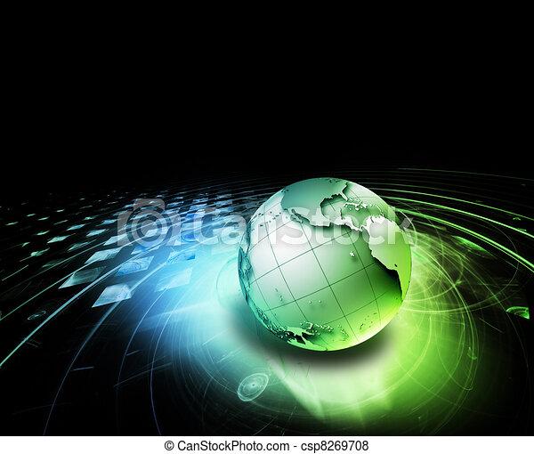 astratto, tecnologia - csp8269708