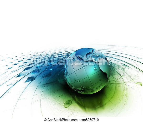 astratto, tecnologia - csp8269710