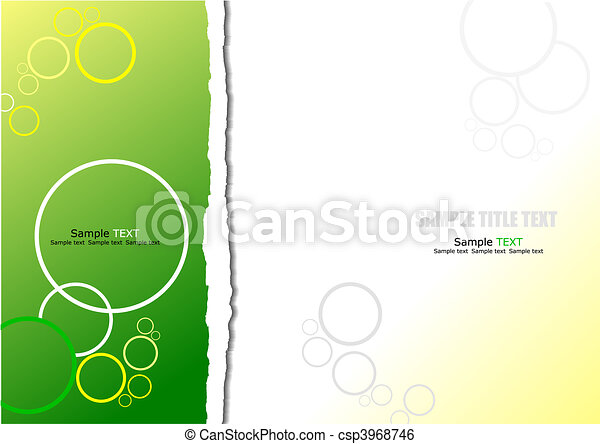 astratto, verde, sfondo giallo - csp3968746