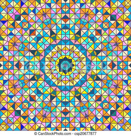 astratto, vettore, colorito, geometrico, fondo - csp20677877