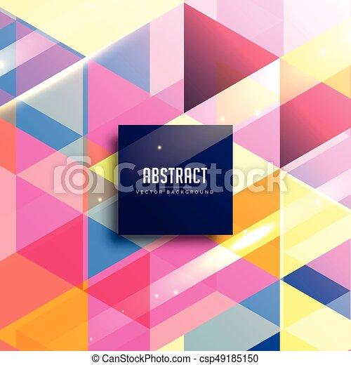 astratto, vettore, colorito, geometrico, fondo - csp49185150