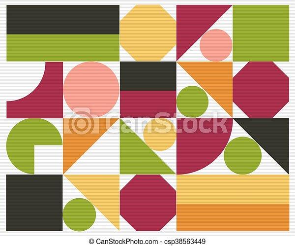 astratto, vettore, colorito, geometrico, fondo - csp38563449