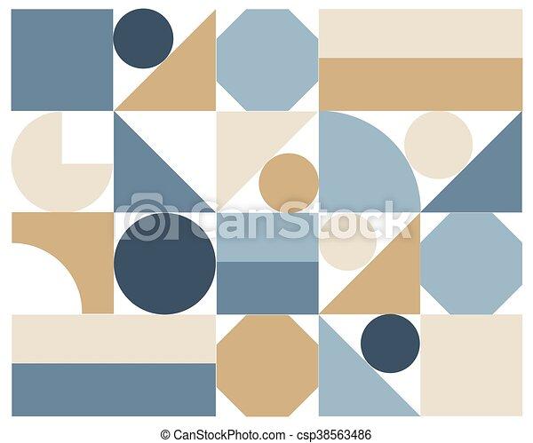 astratto, vettore, colorito, geometrico, fondo - csp38563486