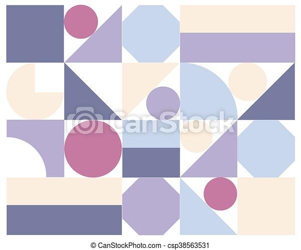 astratto, vettore, colorito, geometrico, fondo - csp38563531
