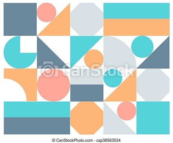 astratto, vettore, colorito, geometrico, fondo - csp38563534