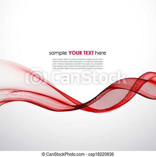 astratto, vettore, sfondo rosso, onda - csp18220636
