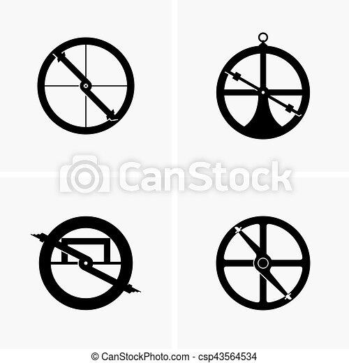 Astrolabe. Set of astrolabes.