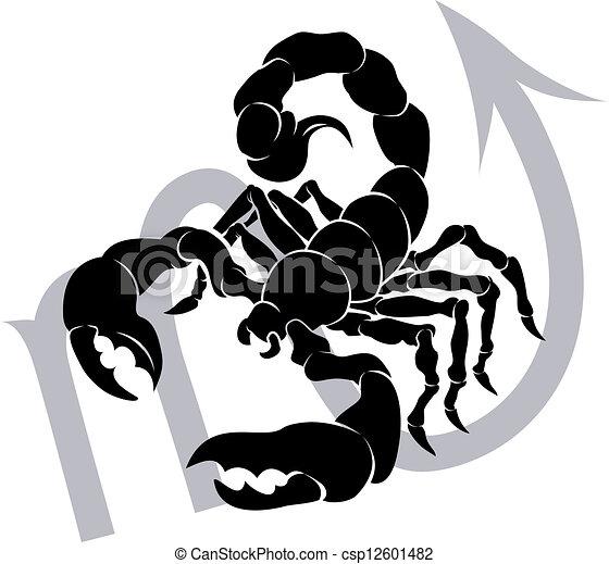 Escorpio zodiaco signo de astrología - csp12601482