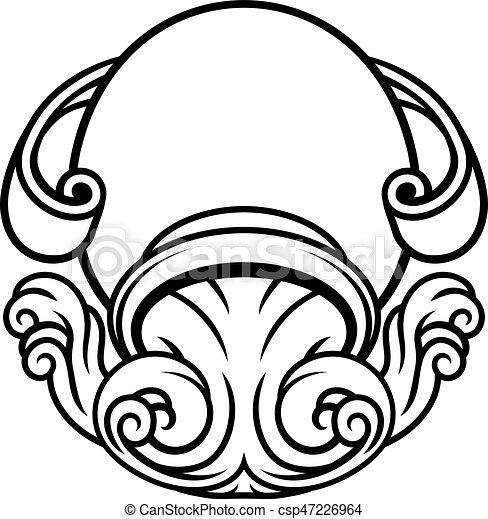 Disegno Acquario Segno Zodiacale.Astrologia Zodiaco Acquario Segno Brocca Simbolo Oroscopo