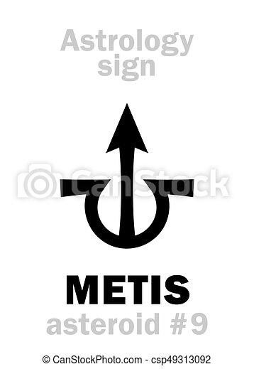 astrology:, astéroïde, metis - csp49313092