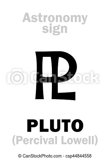 Astrology Astronomical Sign Of Pluto Astrology Alphabet