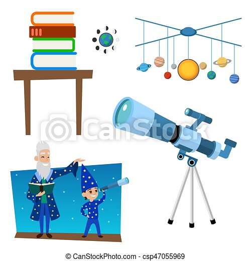Astrology astronomy icons planet science universe space radar cosmos sign universe vector illustration. - csp47055969