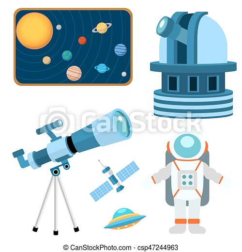 Astrology astronomy icons planet science universe space radar cosmos sign universe vector illustration. - csp47244963