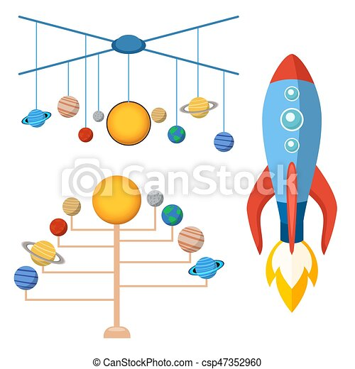 Astrology astronomy icons planet science universe space radar cosmos sign universe vector illustration. - csp47352960