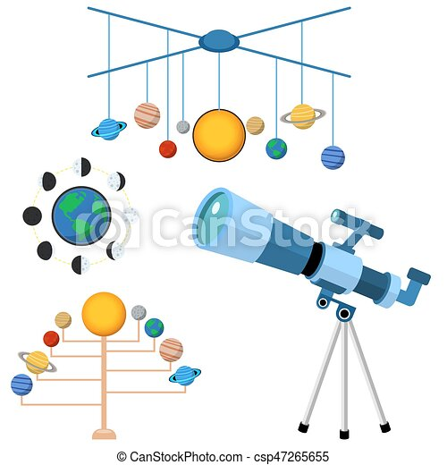 Astrology astronomy icons planet science universe space radar cosmos sign universe vector illustration. - csp47265655