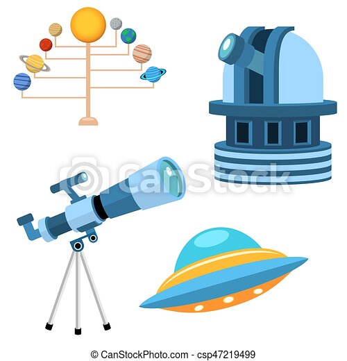 Astrology astronomy icons planet science universe space radar cosmos sign universe vector illustration. - csp47219499