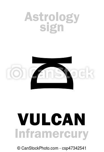 Astrology: circumsolar planet VULCAN - csp47342541