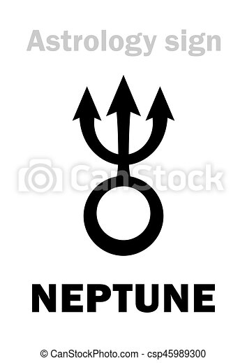 Astrology: planet NEPTUNE - csp45989300
