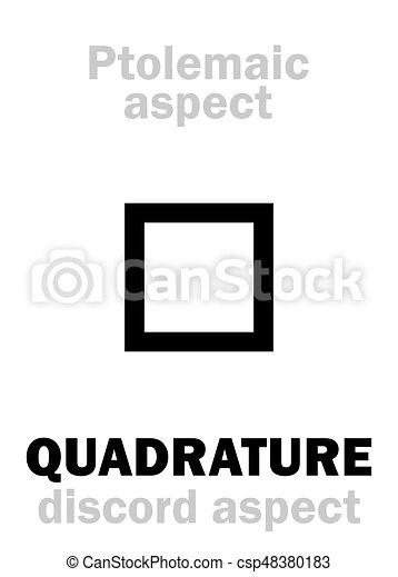 Astrology: QUADRATURE (aspect) - csp48380183