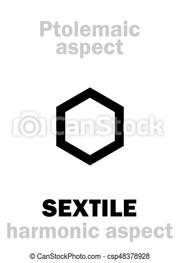 Astrology: SEXTILE (aspect) - csp48378928