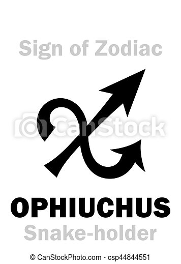 Astrology: Sign of Zodiac OPHIUCHUS (The Snake-holder) - csp44844551
