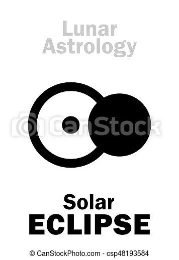 Astrology: Solar ECLIPSE - csp48193584