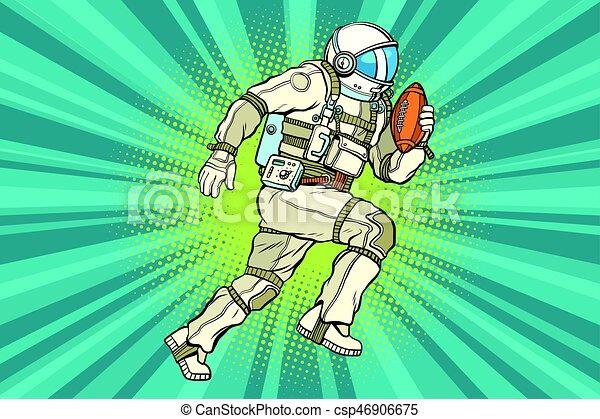 Astronaut athlete American football - csp46906675