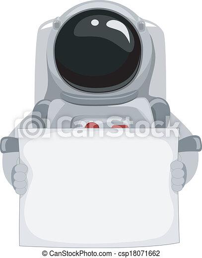 Astronaut Blank Banner - csp18071662