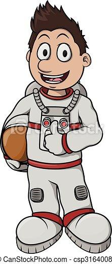 Astronaut Boy cartoon illustration  - csp31640080