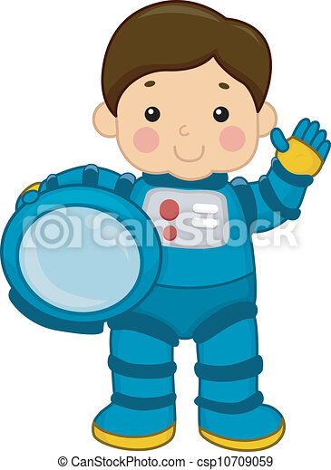 astronaut boy illustration of a young boy wearing a clipart rh canstockphoto com Space Clip Art Astraunant Clip Art