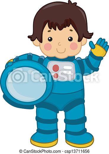 Astronaut Boy - csp13711656
