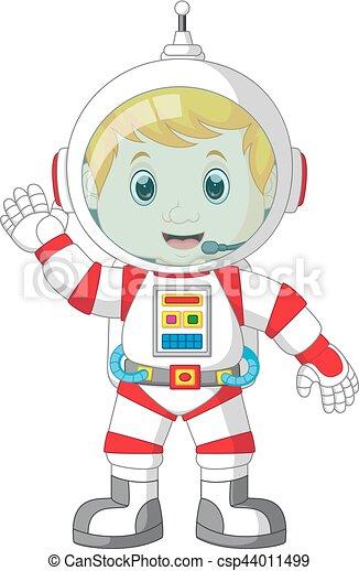 Astronaut cartoon - csp44011499