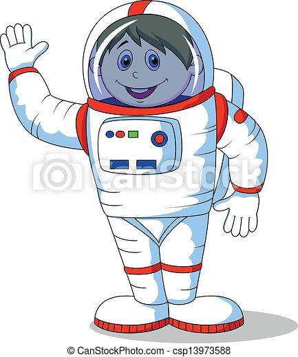 Astronaut cartoon - csp13973588