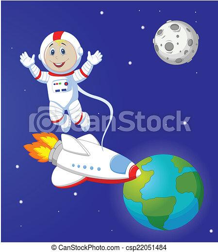 Astronaut cartoon - csp22051484