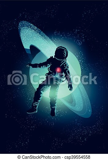 Astronaut Floating In Space An Astronaut Floating Through Space