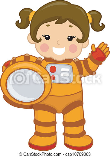Astronaut Girl - csp10709063