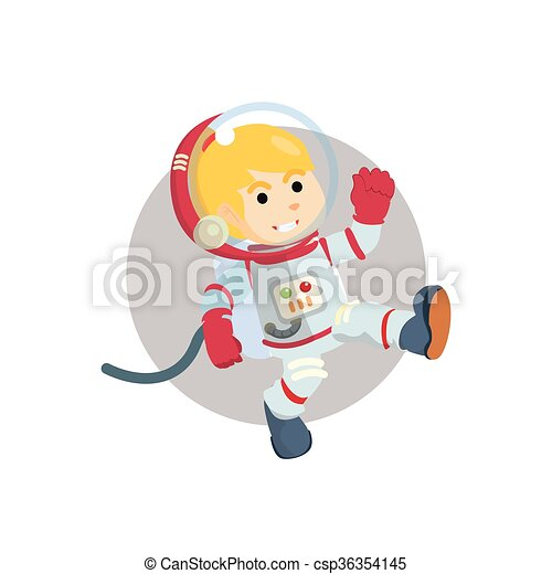 Astronaut girl illustration - csp36354145
