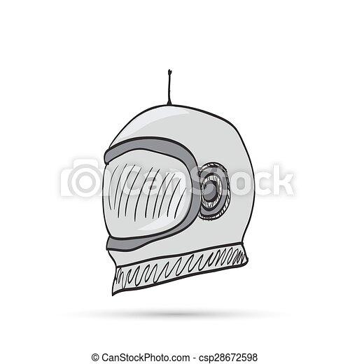 astronaut helmet cartoon - csp28672598
