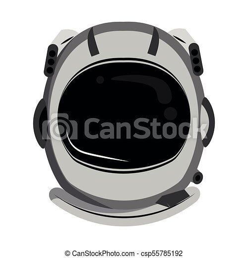 Astronaut helmet cartoon - csp55785192