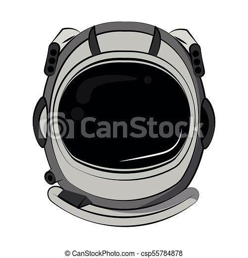 Astronaut helmet cartoon - csp55784878