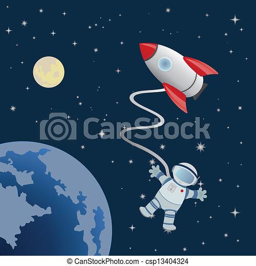 astronaut in space vector art - photo #19