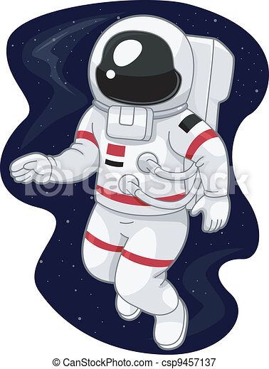 astronaut floating in space clipart - photo #14